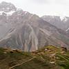 village near seven lakes hike in Tajikistan's Fann mountains