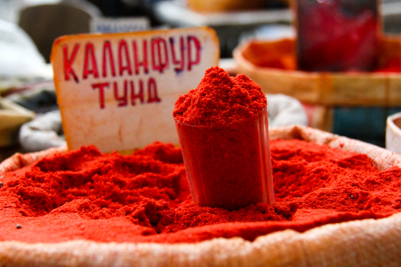 Spices in the Khojand Bazaar