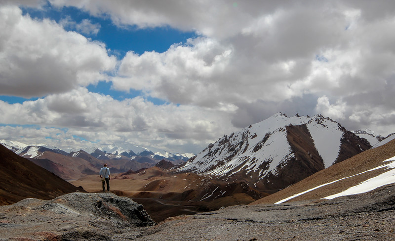 Taking in the view from the Pamir Highway