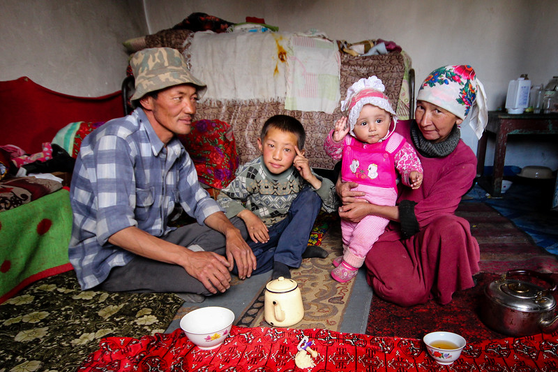 Family Portrait on the Pamir Highway in Murghab