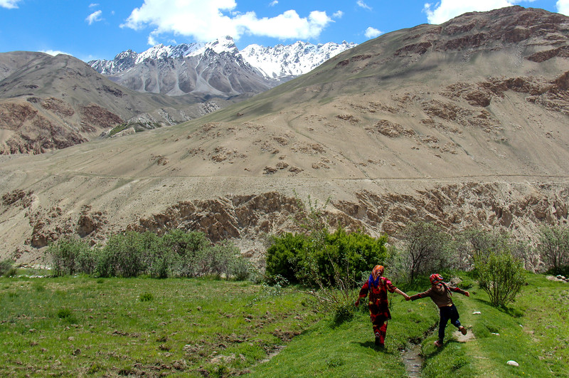Young local guides in the village of Ratm in the Tajik Wakhan.