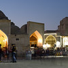 Bukhara's Toqi Telpak Bazaar in the late afternoon hours.