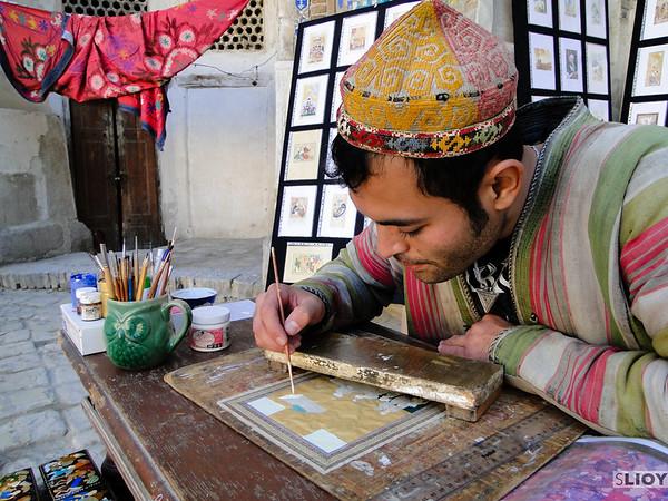local craftsman in Bukhara Uzbekistan