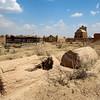 Mizdakhan Cemetery Mausoleums in Khorezm Uzbekistan.