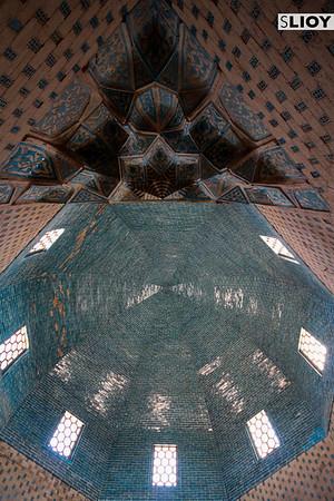 Mizdakhan Cemetery Interior in Khorezm Uzbekistan.