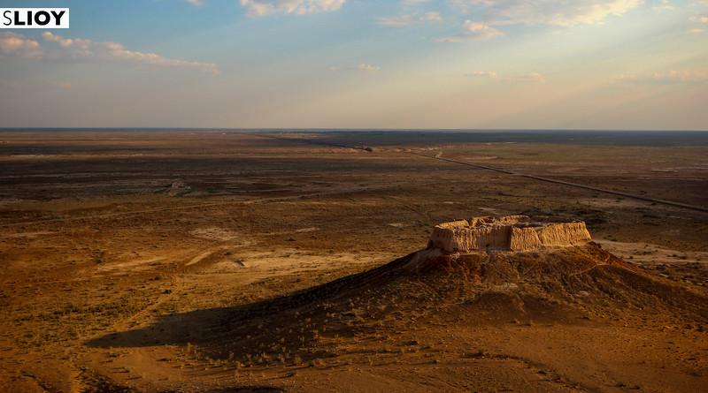 Small Ayaz Qala Fortress in Khorezm Uzbekistan's Elliq Qala.