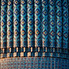 Dome details of the Gur-i-Amir Mausoleum of Amir Timur in Samarkand, Uzbekistan.