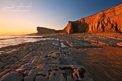nash point, glamorgan, uk