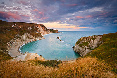 man 'o' war bay, dorset, uk