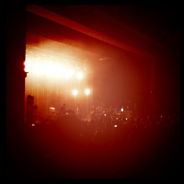 Grizzly Bear at the Greek Theater with glowing, floating lanterns.