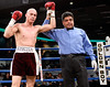 (3.10.2006 --- Desert Diamond Casino)  Referee Nico Perez declares Ivan Valle the victor after his 4th round knockout of William Morelos.