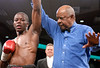 (3.10.2006 --- Desert Diamond Casino)  Referee Ray Scott declares Lonnie Smith Jr. the victor after his 2nd round knockout of the Javier Flores.