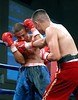 (3.10.2006 --- Desert Diamond Casino)  Juan Garcia scores against Raul Montes in the 4th round of their bout.