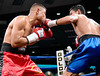 (3.10.2006 --- Desert Diamond Casino)  Ramiro Rivera lands a blow to the face of Tomas Padron in their 4 round Super Featherweight bout.