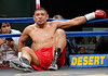 (3.10.2006 --- Desert Diamond Casino)  Tomas Padron reacts after being knocked down by Ramiro Rivera in the 1st round of their 4 round Super-Featherweight bout.