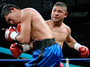 (3.10.2006 --- Desert Diamond Casino)  Tomas Padron scores against Ramiro Rivera in the 2nd round of their 4 round Super-Featherweight bout.