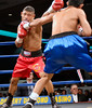 (3.10.2006 --- Desert Diamond Casino)  Ramiro Rivera scores against Tomas Padron in the 1st round of their 4 round Super-Featherweigth bout.