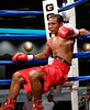(3.10.2006 --- Desert Diamond Casino)  William Morelas on the ropes after being knocked down by Ivan Valle in the 4th round of their 10 round Lightweight bout.