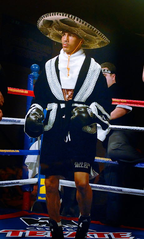(11.3.2007 -- Tucson, Arizona)  Featherweight Martin Honorio prior to his IBF World Championship bout again Robert Guerrero.  Guerrero successfully defended his belt with a first round TKO of Honorio.