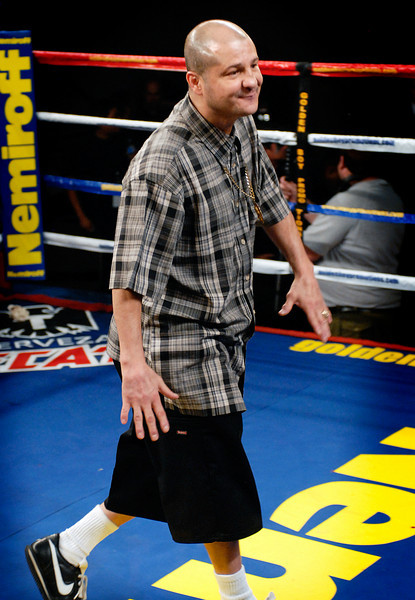 (11.3.2007 -- Tucson, Arizona)  Five-time World Champion Johnny Tapia introduced to the crowd at the November 3, 2007 Golden Boy Productions fight card at the Desert Diamond Casino.