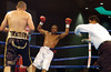 (1.27.2006 - Desert Diamond Casino, Tucson, AZ)  David Lopez knocks Shay Mobley out in the 8th round of their 10 round Middleweight bout.
