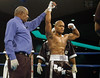(1.27.2006 - Desert Diamond Casino, Tucson, AZ)  2004 Olympian, Rock Allen declared the winner after his 1st round knockout of Mike Walker.