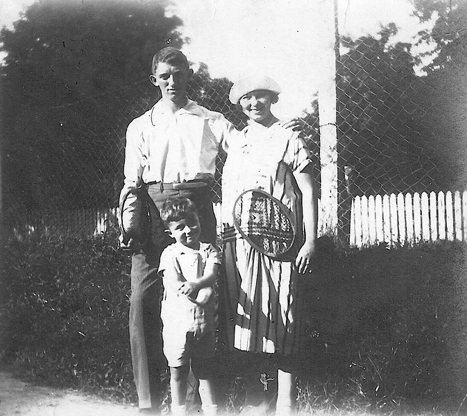 With Sister Zofia and her Son Julek