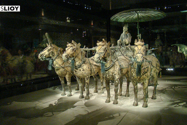 Terracotta Warriors Museum on-site in Xi'An, China.