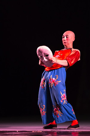 Performer at a Sichuan Opera performance in Chengdu, China.