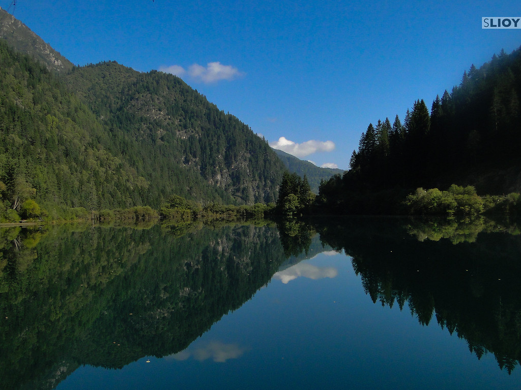 Another reflection in the lakes of Jiuzhaigou National Park in Sichuan, China.