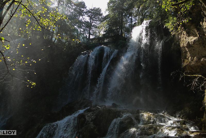 Waterfall in Jiuzhaigou National Park in Sichuan, China.