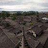 The slate rooftops of old-town Langzhong in Sichuan, China.