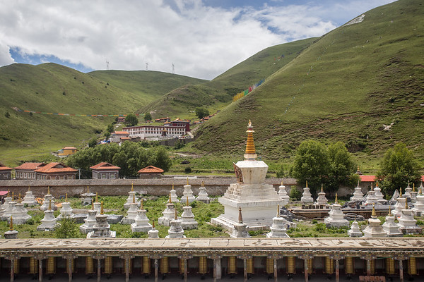 Tagong Temple in the mountains of Sichuan, China.