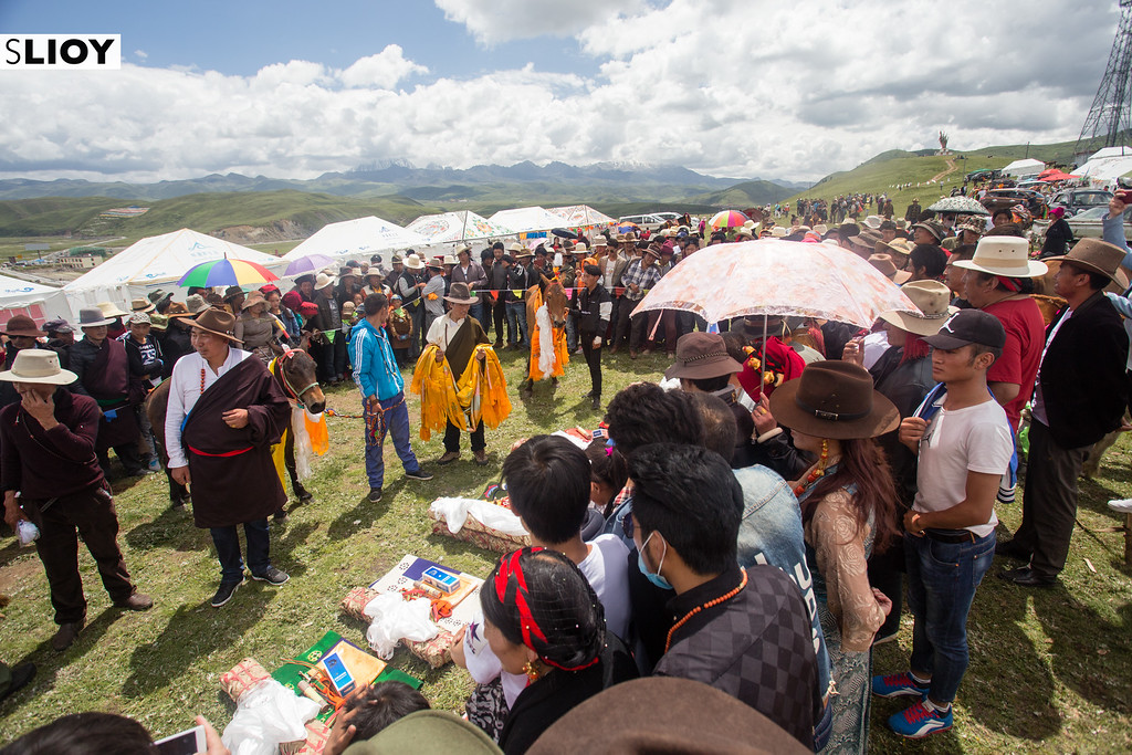 Awards ceremony at the Tagong Horse Festival in Western Sichuan, China.