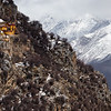 Secluded building of the Ganden Monastery complex in the U region of Tibet.