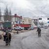 The main street of Nyama Jiangre town in Medro Gongkar county in U Region of Tibet.
