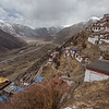 Residential and religious buildings iof Drigung Til Monastery in the U region of Tibet.