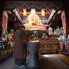Inside the Jangchub Semgye Ling temple of Samye Monastery in the Lhoka Prefecture of Tibet.