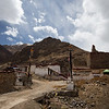 Entrance of the partially-ruined Talung Monastery in the U region of Tibet.