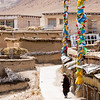 A villager circumambulates Pomda Monastery in the Chamdo Prefecture of Eastern Tibet.