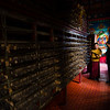Inside the scripture library of Dodung Gomba near the town of Pomi in Eastern Tibet.