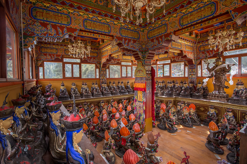 Storage space for statues inside Dodung Gomba near the town of Pomi in Eastern Tibet.