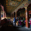 Pilgrims wait for entry into the inner sanctum of the Jokhang Temple in Lhasa, Tibet.