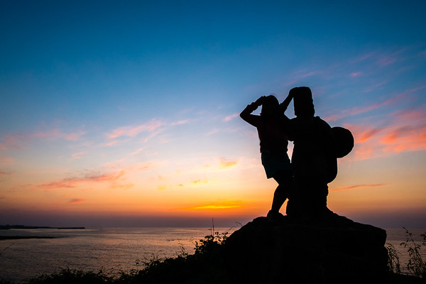 Jeju Statue Sunset