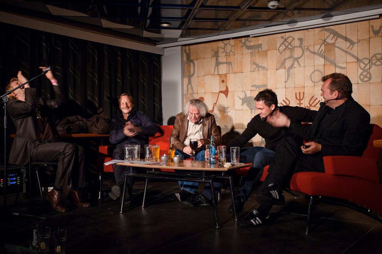 Aslak Sira Myhre, Kjartan Fløgstad, Dag Solstad, Håkon Opdal & Frode Grytten