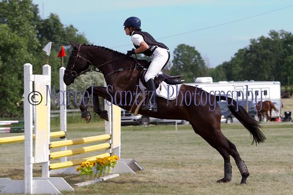 Sarah Jumping Honey Run Encore Horse Trials 2012 Stadium