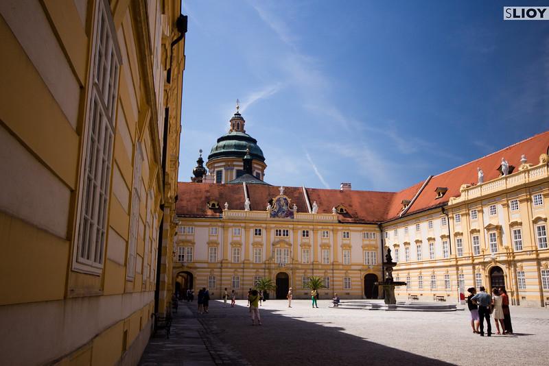 Main Courtyard of Austria's Melk Abbey.