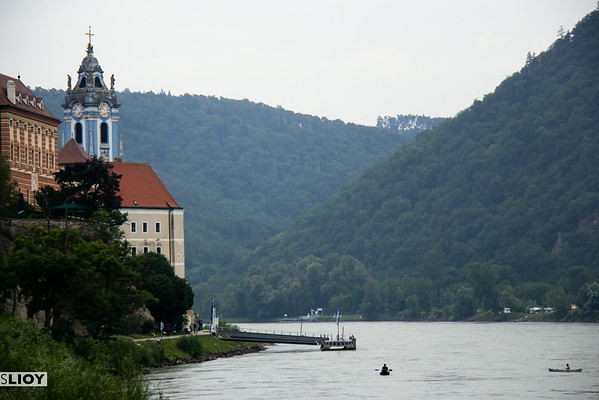 Dürnstein from the danube river