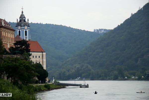 Dürnstein from the danube river