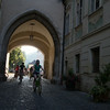 biking into krems in the wachau valley